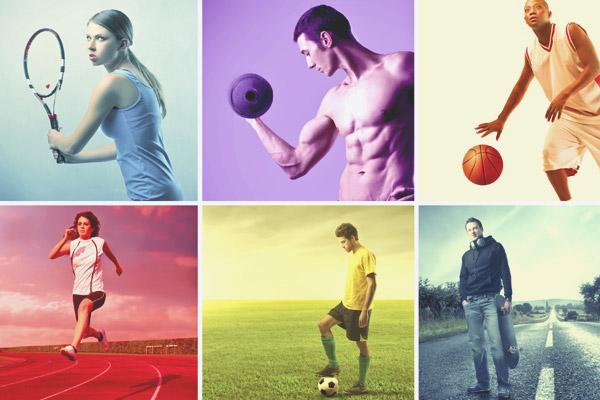 Une variété de sports